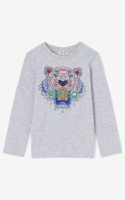 MISTY GREY Tiger Long T-shirt KENZO