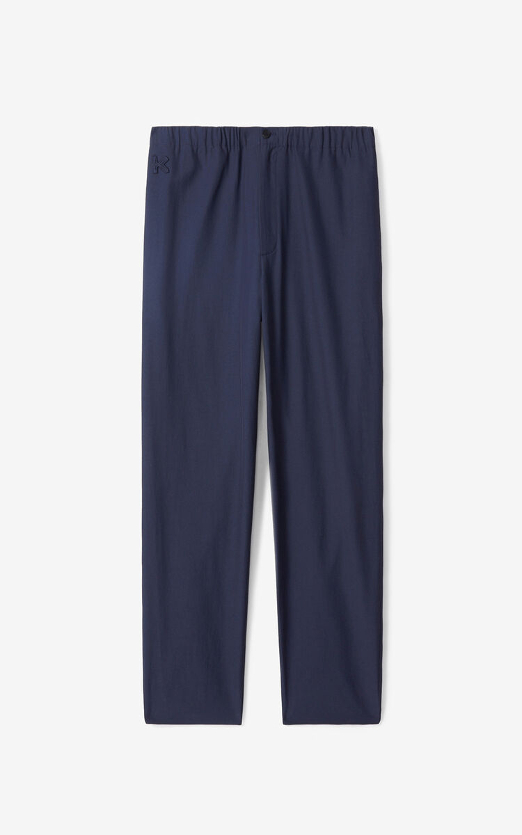 NAVY BLUE K joggers for men KENZO