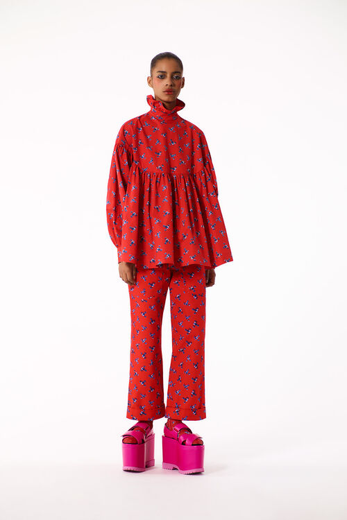 MEDIUM RED 'May Flowers' Top for women KENZO