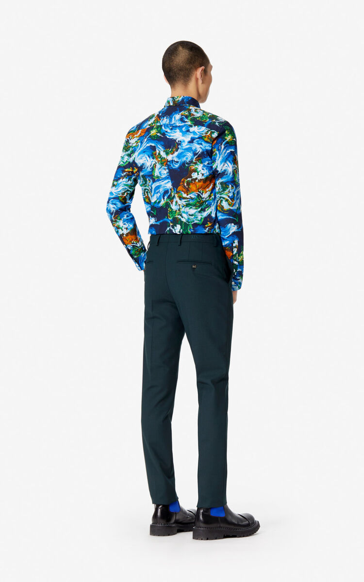 COBALT Slim cut 'KENZO World' shirt for men