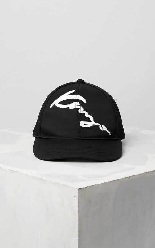 BLACK KENZO Signature Baseball Cap for women
