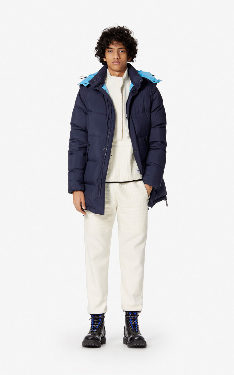 NAVY BLUE Long 2-in-1 'Golden Bamboo' puffer jacket for men KENZO