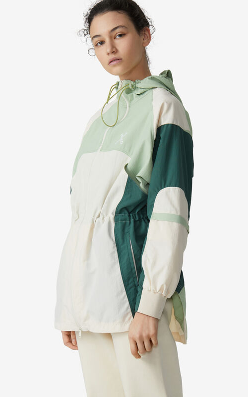 ECRU KENZO Sport 'Little X' lightweight parka for women