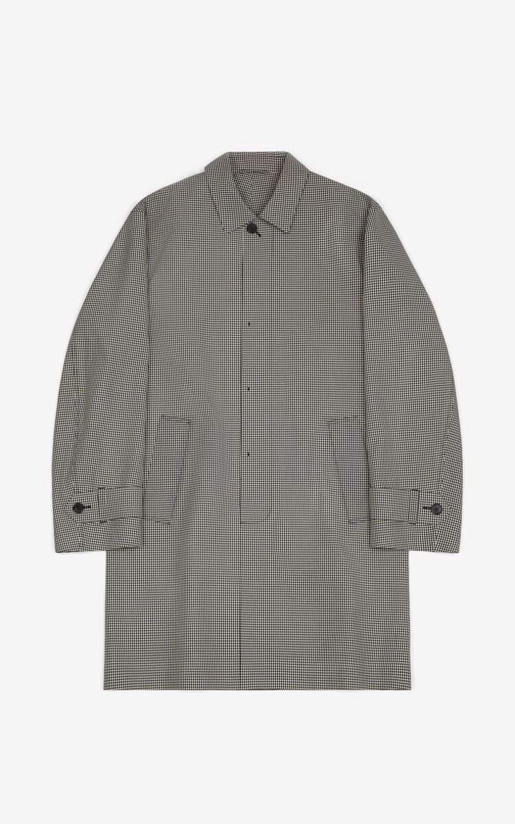 OFF WHITE Gingham coat for men KENZO