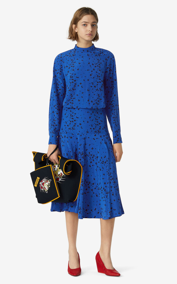 ROYAL BLUE Silk dress for men KENZO