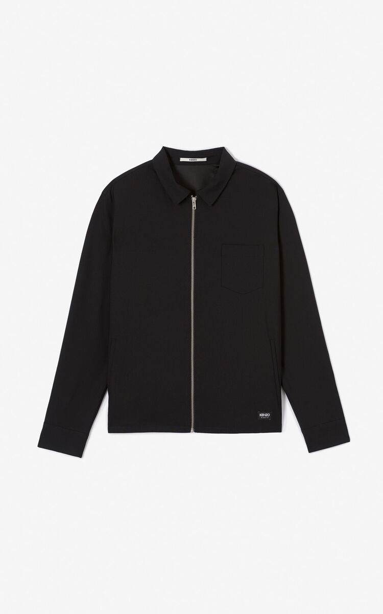 BLACK 'Holiday Capsule' zipped jacket for men KENZO