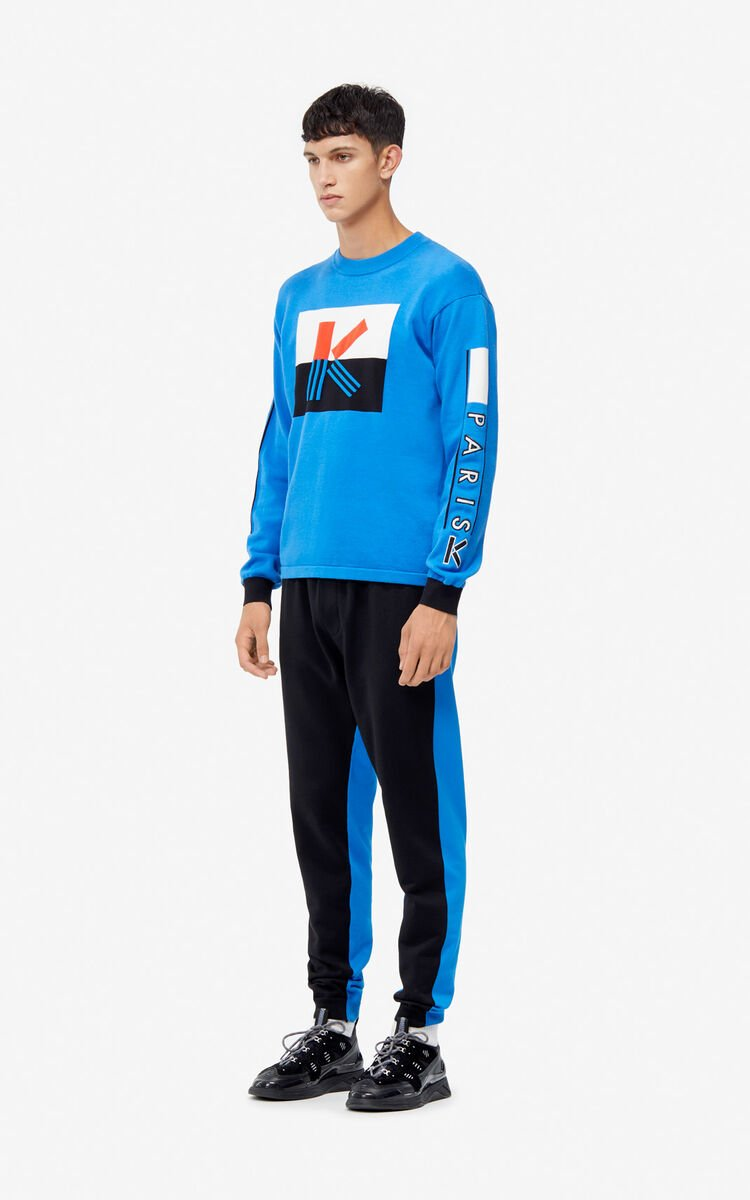 FRENCH BLUE K colorblock jumper for women KENZO