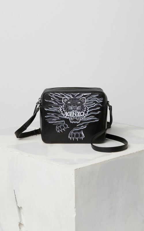 BLACK Mini 'Crawling Tiger' Camera Bag for women KENZO