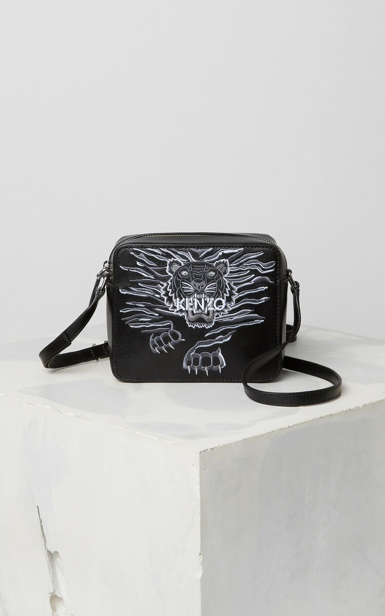 BLACK Mini 'Crawling Tiger' Camera Bag for unisex KENZO