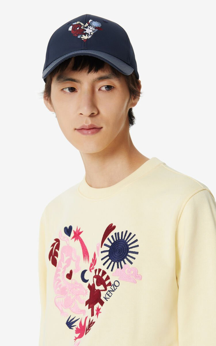 MIDNIGHT BLUE 'Lucky Star' baseball cap for unisex KENZO