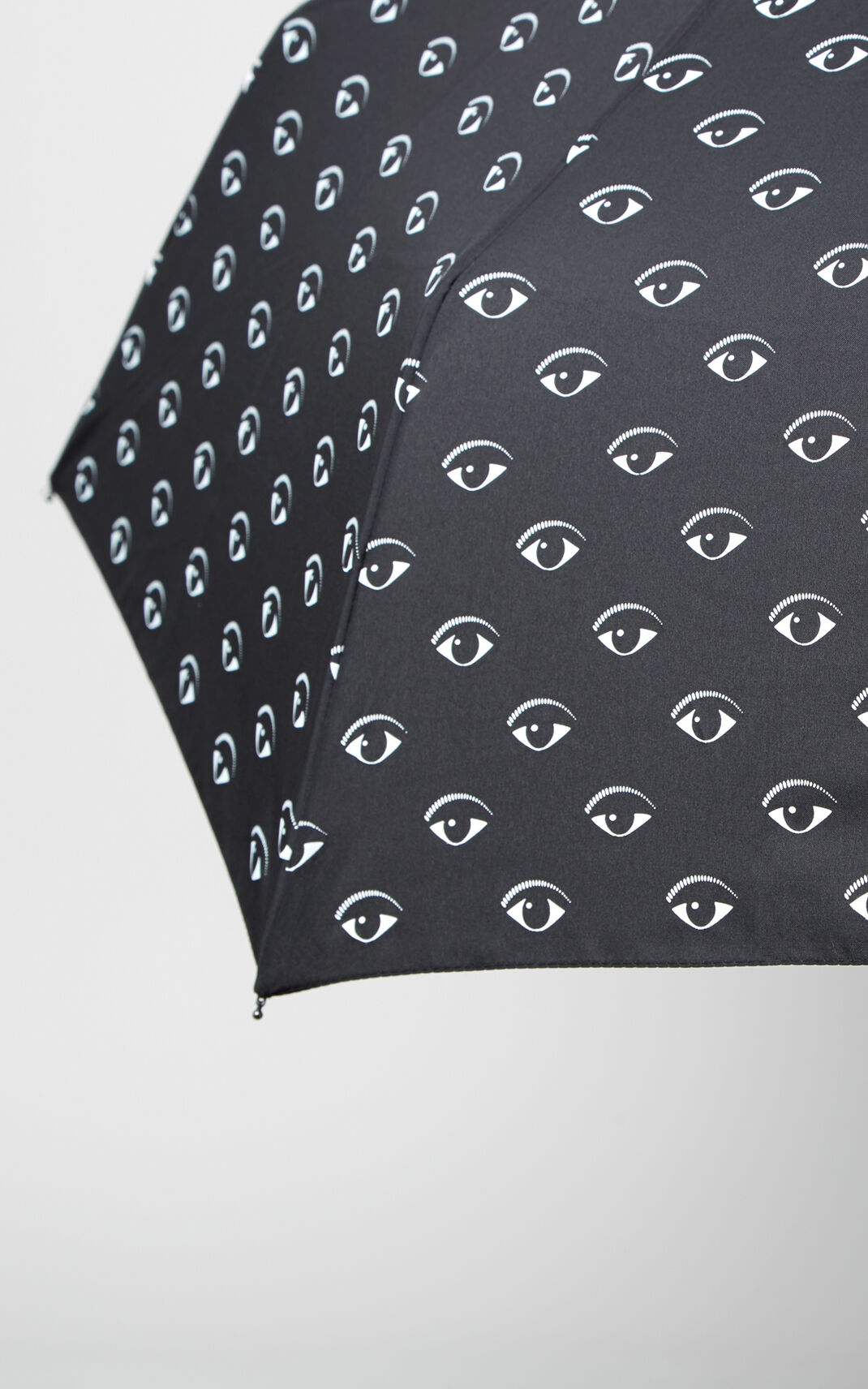BLACK All over Eyes Umbrella for men KENZO