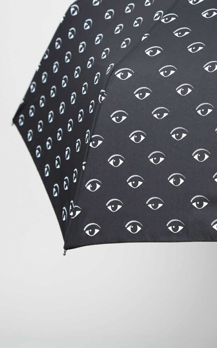 BLACK All over Eyes Umbrella for unisex KENZO