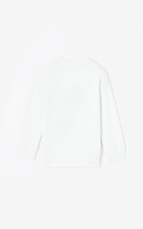 WHITE 'Phoenix Celebration' sweatshirt for unisex KENZO