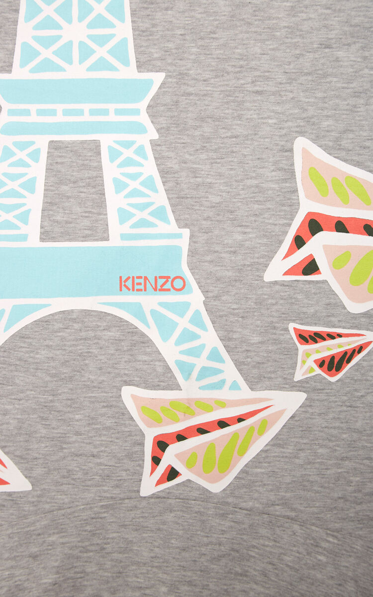 MIDDLE GREY 'Paper Planes' skater dress for women KENZO