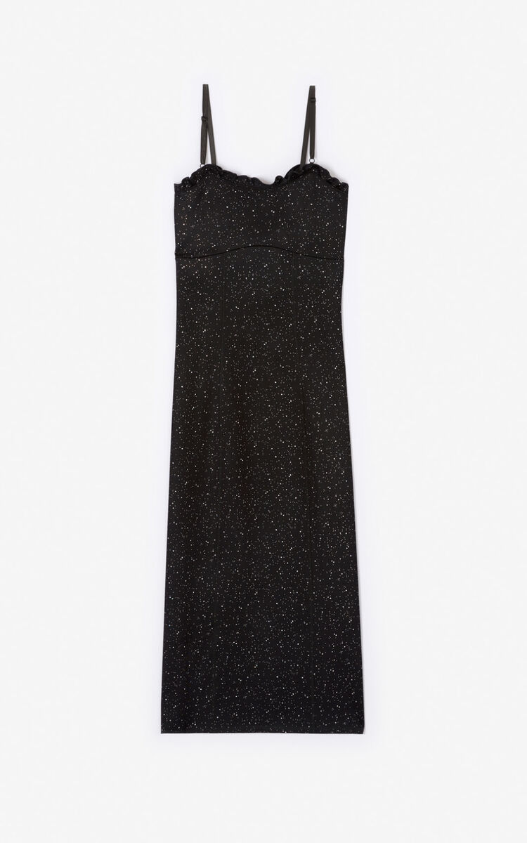 BLACK Iridescent dress for women KENZO
