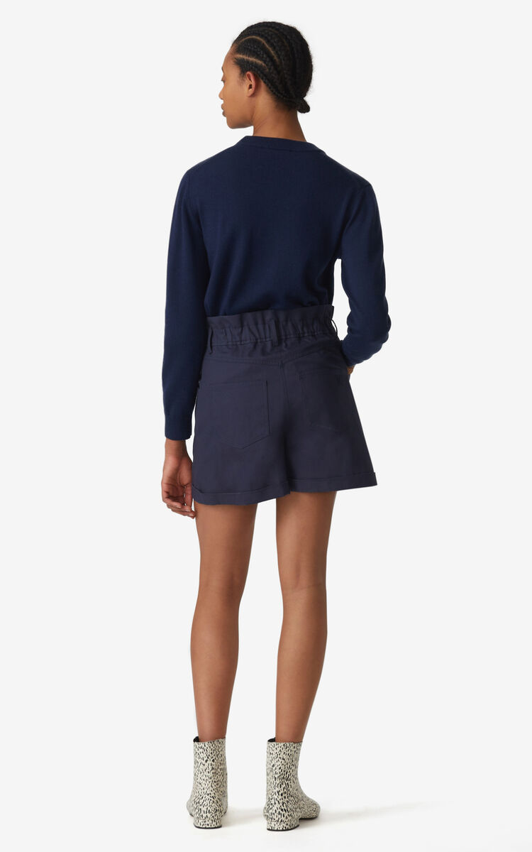 NAVY BLUE High-waisted shorts for women KENZO