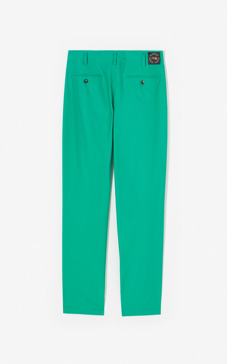 GREEN Straight-cut trousers for women KENZO