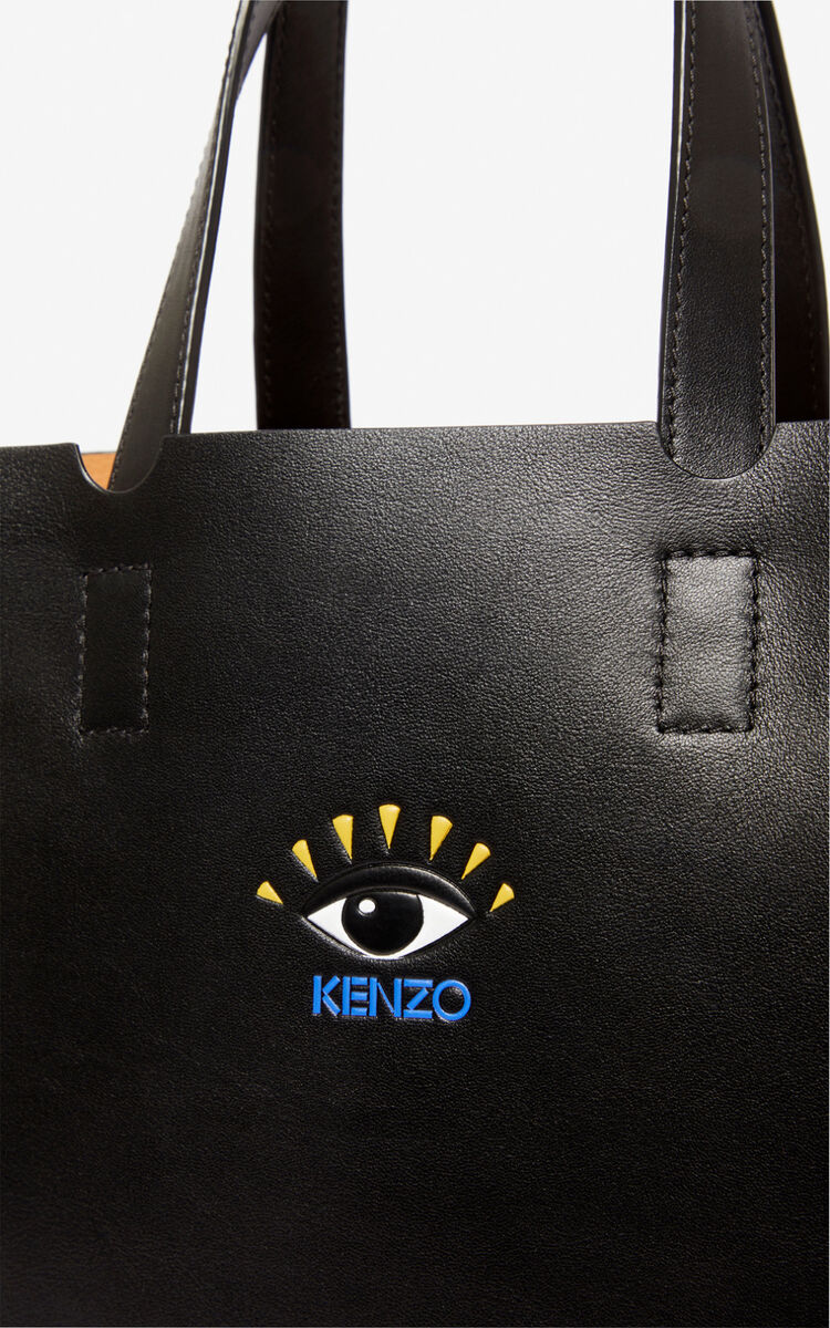 BLACK Small Eye tote bag for women KENZO