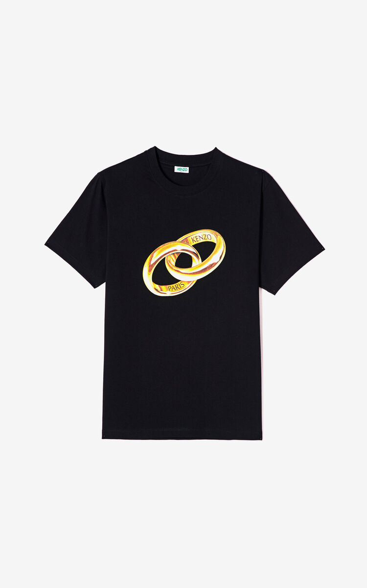 BLACK 'Hypereal' T-shirt for men KENZO