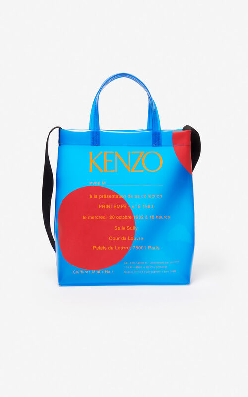 COBALT Invitation tote bag for unisex KENZO