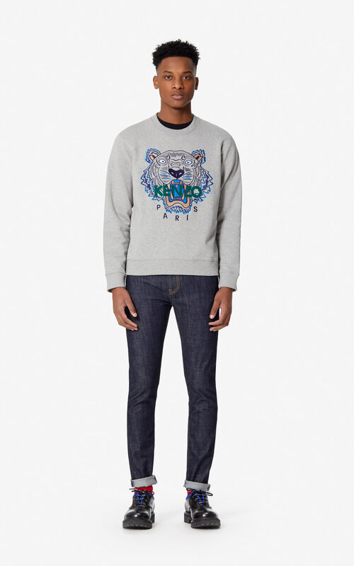 764faebb432 ... PEARL GREY Tiger sweatshirt for men KENZO