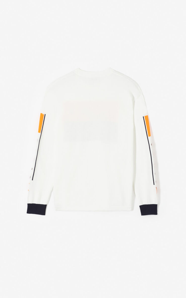WHITE K colorblock jumper for men KENZO