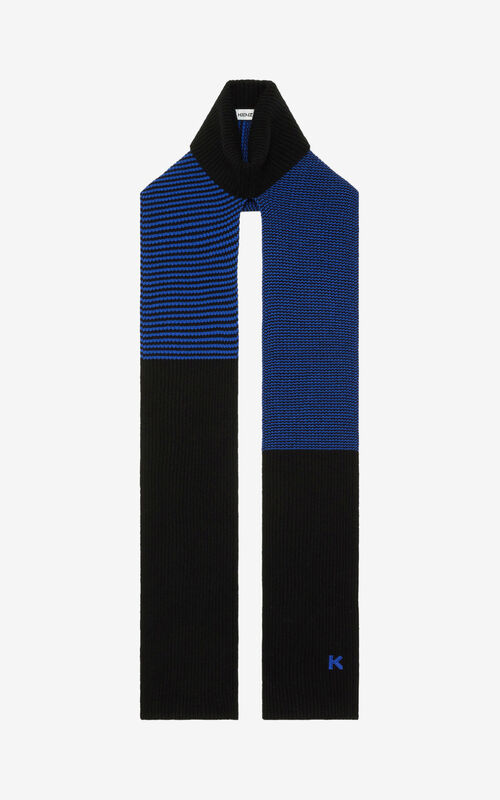 ROYAL BLUE Wool scarf for unisex KENZO