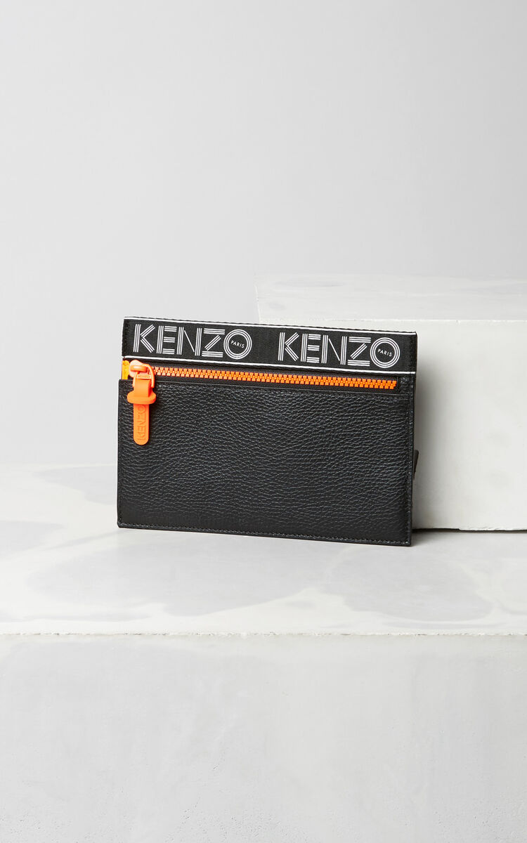 BLACK KENZO Sport A5 Clutch for women