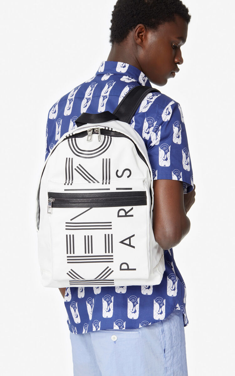 OFF WHITE Large KENZO Logo backpack for unisex