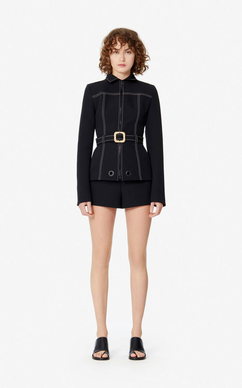 BLACK Belted jacket for women KENZO