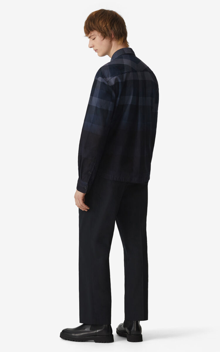 MIDNIGHT BLUE Overdyed overshirt for women KENZO