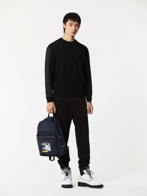 NAVY BLUE 'Tiger Face' backpack for men KENZO