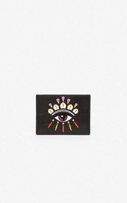 BLACK Kontact Eye card holder for women KENZO