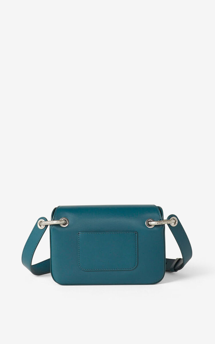DUCK BLUE KENZO K small leather crossbody bag for unisex