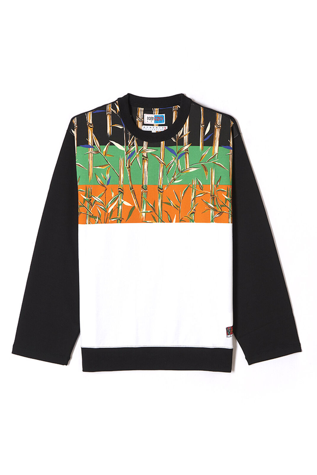 WHITE 'Bamboo Stripes' sweatshirt for men KENZO