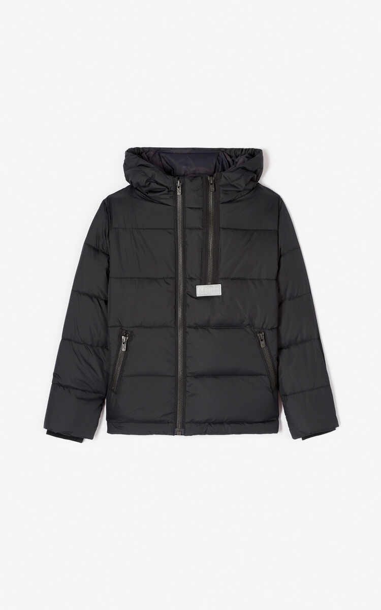 BLACK Padded down jacket for men KENZO