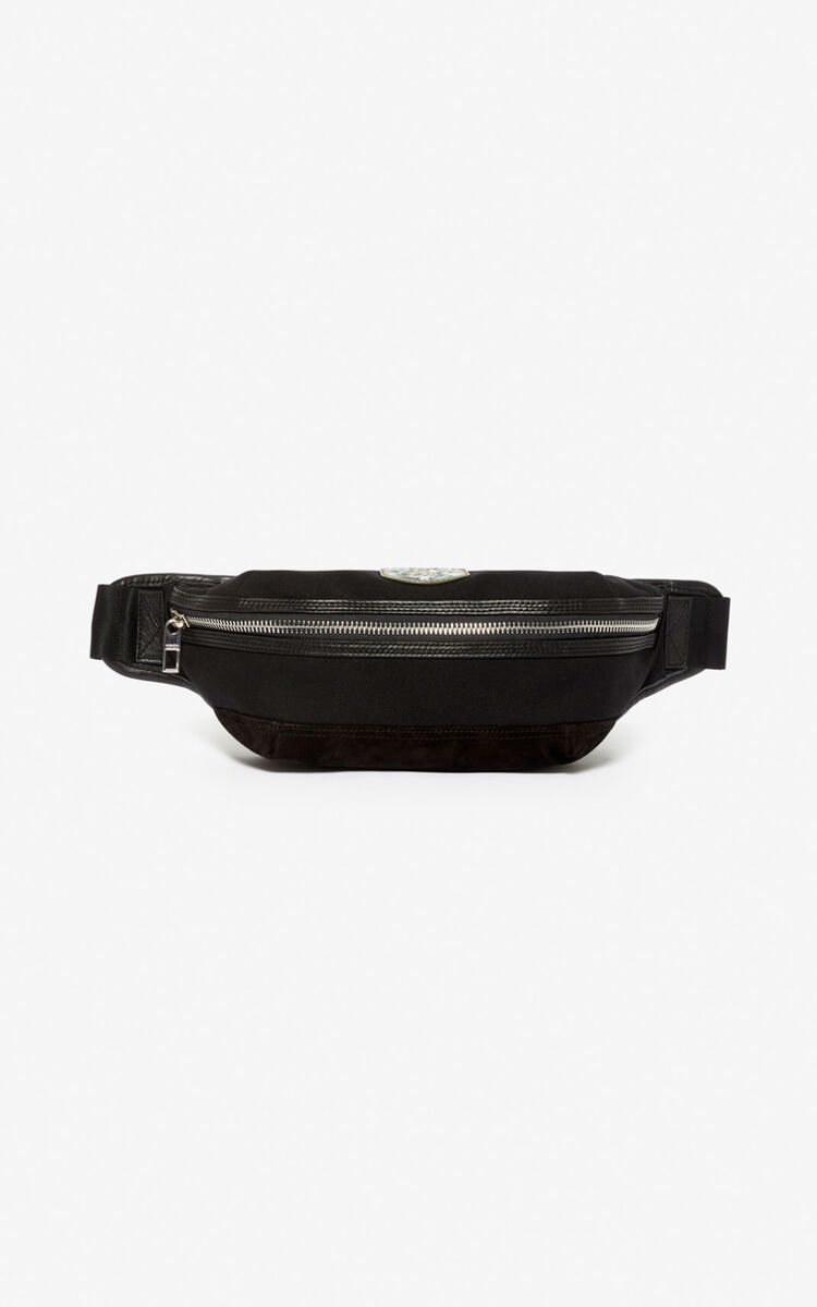 BLACK 'Tiger Mountain' 'Capsule Expedition' bumbag for unisex KENZO