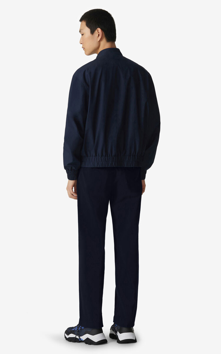 NAVY BLUE Zipped bomber jacket for men KENZO