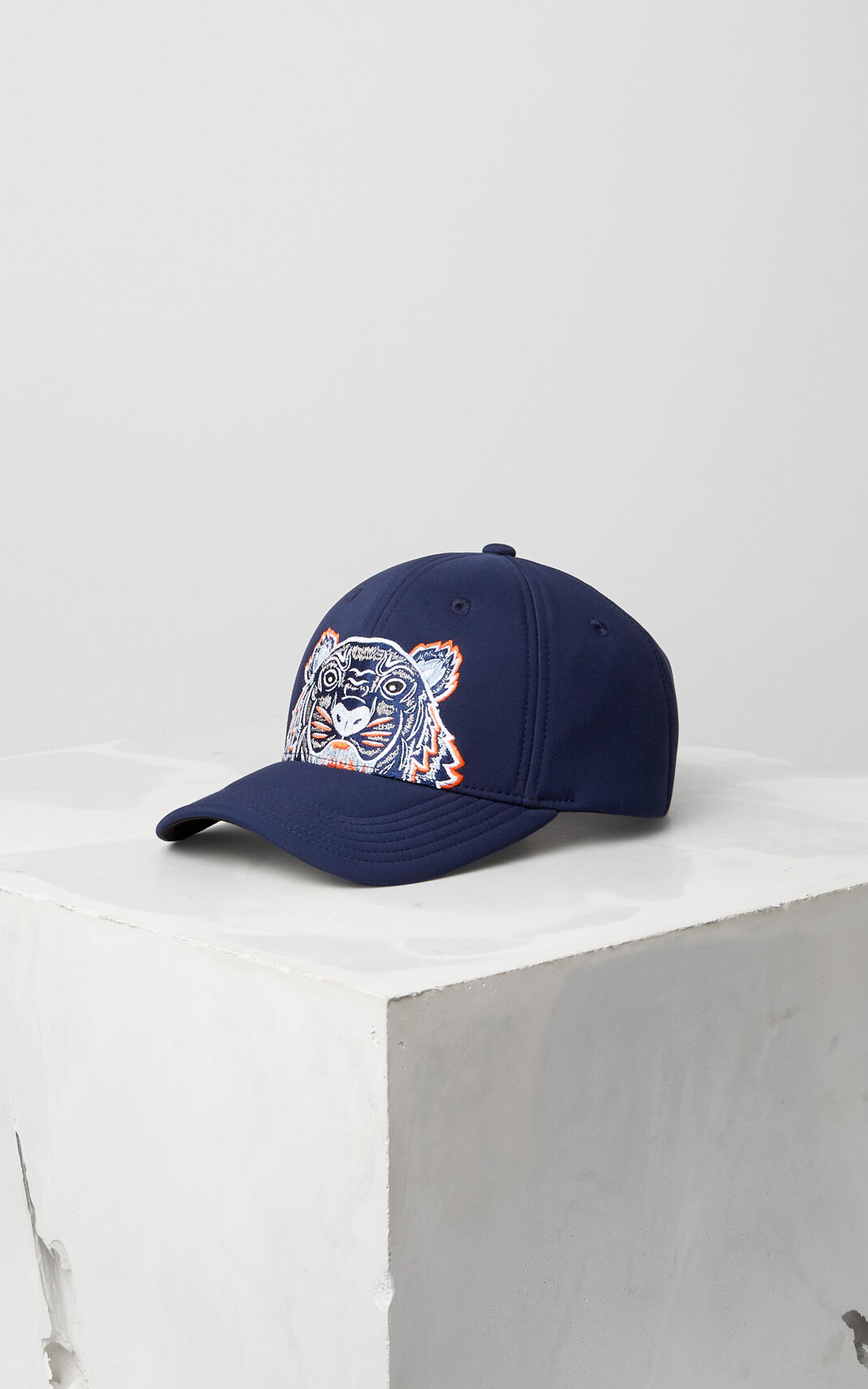 3d364674465 NAVY BLUE Neoprene Tiger cap for unisex KENZO ...