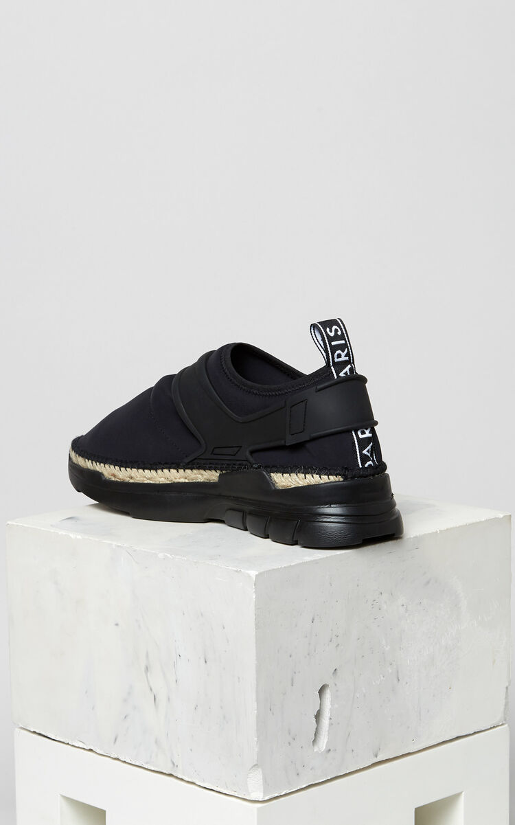 BLACK K-lastic espadrilles for men KENZO