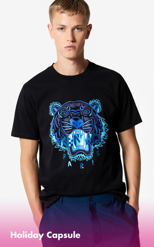 BLACK Tiger T-shirt 'Holiday Capsule' for men KENZO