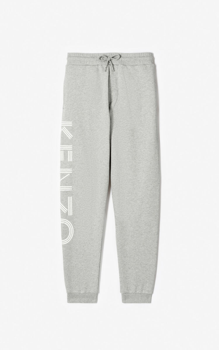PEARL GREY KENZO Logo joggers for global.none