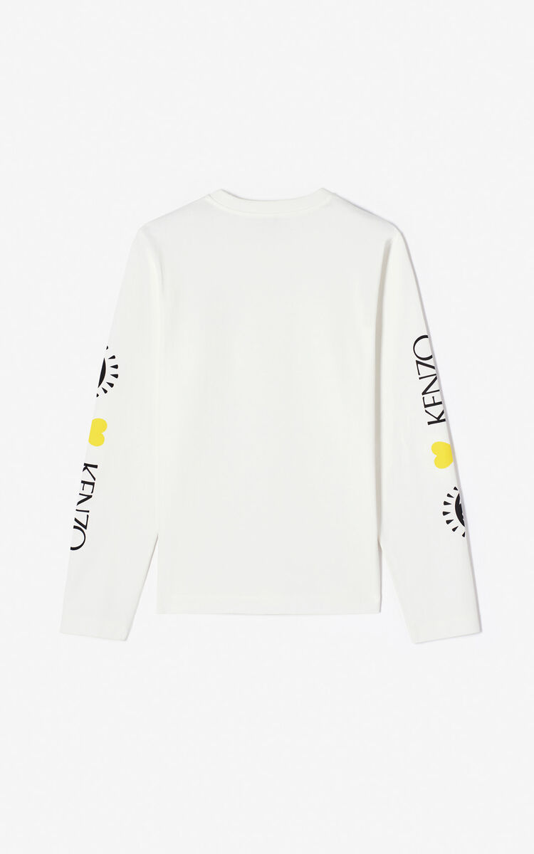 WHITE Cupid' T-shirt 'Capsule Back from Holidays' for women KENZO