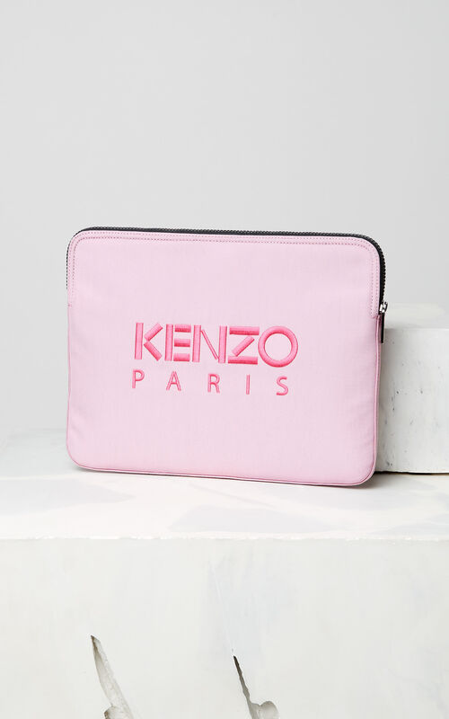 FLAMINGO PINK Tiger laptop sleeve for women KENZO