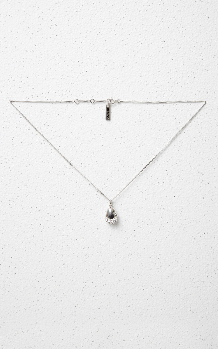 SILVER Tiger Paw Necklace for global.none KENZO
