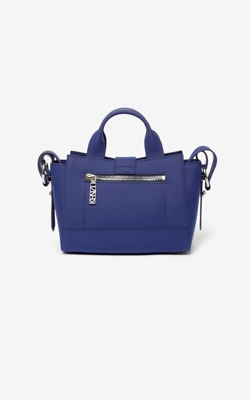 NAVY BLUE Mini Kalifornia bag Gommato leather for unisex KENZO