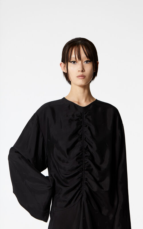 BLACK Frilled dress for women KENZO