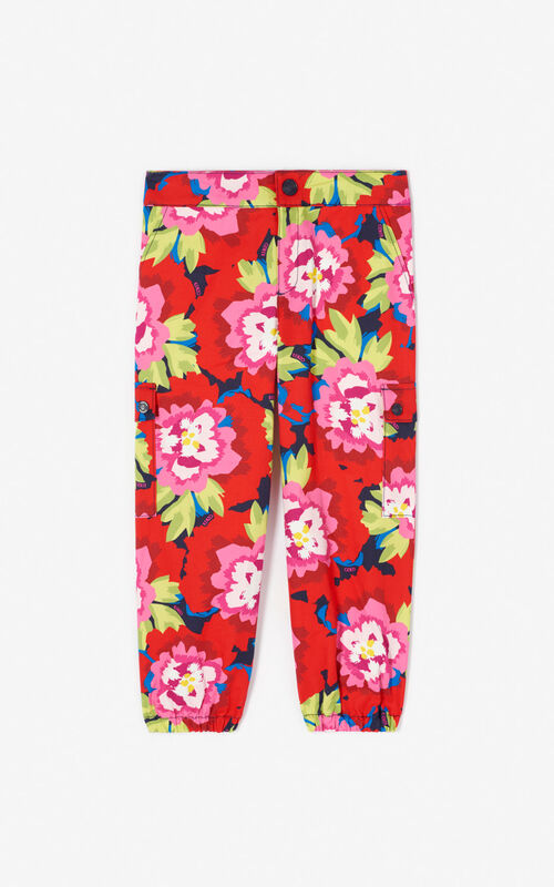 NAVY BLUE 'Japanese Flower' trousers for women KENZO