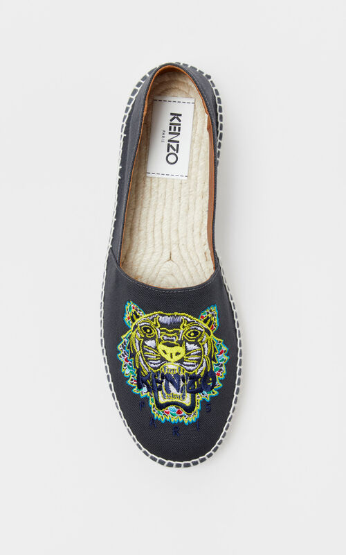 ANTHRACITE 'Dragon Tiger' espadrilles for men KENZO