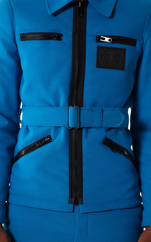 DUCK BLUE 'Tropical Ice' jacket for men KENZO